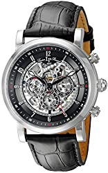 Lucien Piccard Men's LP-40010A-01 Sultan Analog Display Automatic Self Wind Black Watch