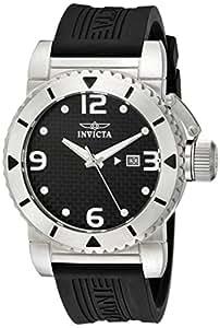 Invicta Men's 1431 Sea Hunter Black Dial Rubber Watch