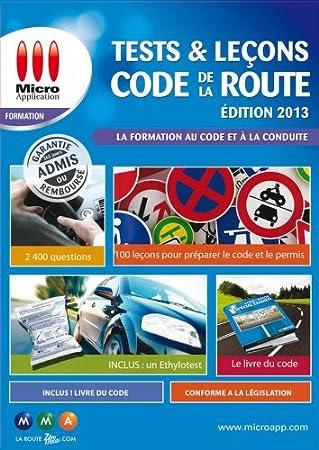Tests & leçons code de la route - édition 2013