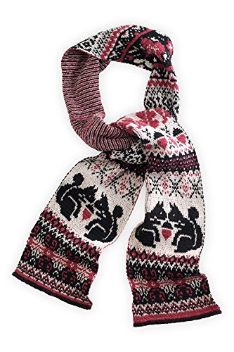 Green 3 Apparel Squirrel Made In Usa Scarf (Black/Cranberry) front-1048478