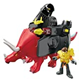 Fisher-Price - BFT44 - Imaginext - Dinosaurs - Triceratops - includes armour & Mini Figure (appr. 6 cm)