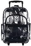 K-Cliffs Rolling Clear Transparent Multi-pockets Backpack with Color Trim