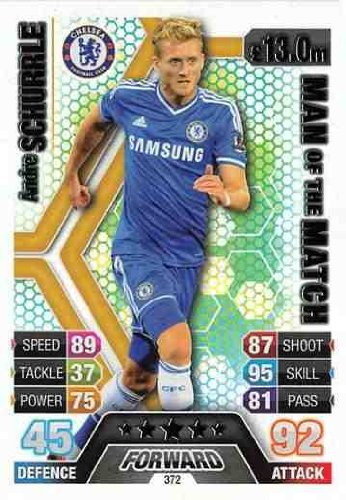 Match Attax 2013/2014 Andre Schurrle Chelsea 13/14 Man Of The Match