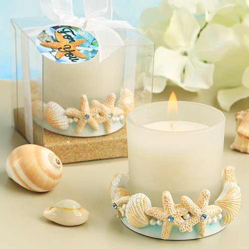 Life's A Beach Collection Ocean Shell Themed Candle Holder (Set Of 3)