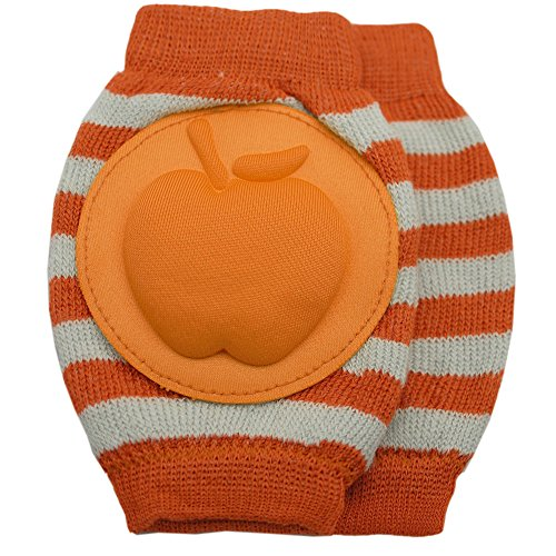 New Baby Crawling Knee Pad Toddler Elbow Pads 805528 Orange-white
