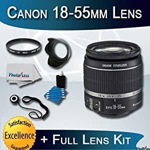 Canon EF-S 18-55mm f/3.5-5.6 IS Autofocus SLR Lens + Full Starter Lens Kit