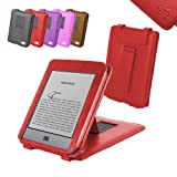 "DURAGADGET Red Genuine Leather Case & Cover With Stand For Amazon's New Kindle TOUCH, Wi-Fi, 6"" E Ink Display (Latest Generation) + Car Chargerby DURAGADGET"