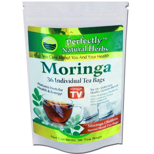 36 Moringa Oleifera Leaf Powder Tea Bags With Other Flavorful Herbs