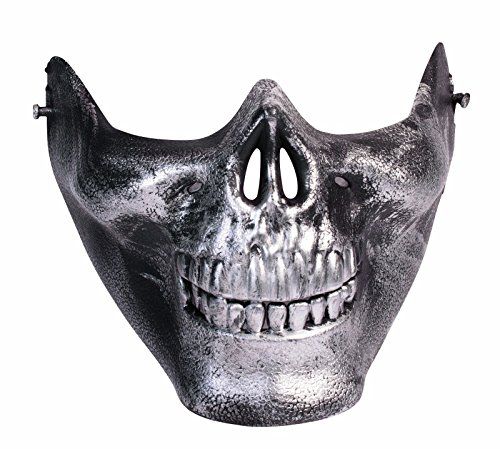 Men's Immortan Joe Skull Half Mask (Silver)