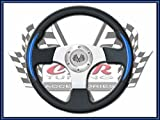 Car Tuning Universal PU Auto Car Racing Sport Steering Wheel BLACK / BLUE