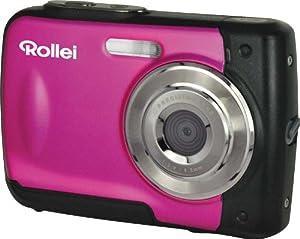 Rollei Sportline 60 Digitalkamera (5 Megapixel, 8-fach digitaler Zoom, 6 cm (2,4 Zoll) Display, bildstabilisiert, bis 3m wasserdicht) rosa