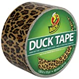 Duck Brand 1379347 Spotted Leopard Printed Duct Tape, Black/Yellow, 1.88-Inch by 10 Yards, Single Roll