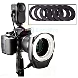 Macro Ring LED Flash Light For Canon 5D Mark II III 1DX 7D 6D 60D 700D 650D 600D 550D 1100D Nikon D4 D3X D800 D800E D700 D300S D600 D7100 D7000 D5200 D3200 Pentax K-5 K-7 K-R K-X Sony Alpha A200 A230 A300 A330 A350 A380 A450 A500 A550 A700 A850 A900 Olym