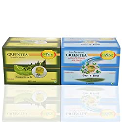 GTEE Green Tea Bags - Regular & Green Tea Bags - Mint (25 Tea bags X 2PACKS)