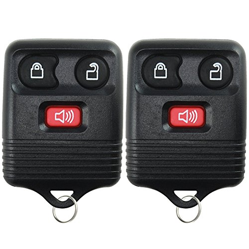 2 KeylessOption Replacement Keyless Entry Remote Control Key Fob Clicker Transmitter 3 Button - Black (Ford Ranger 2006 compare prices)