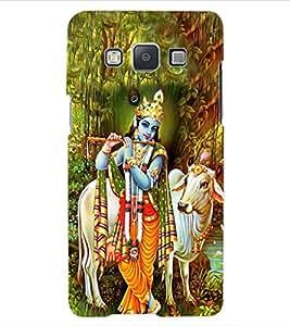 ColourCraft Lord Krishna Design Back Case Cover for SAMSUNG GALAXY A5 A500F