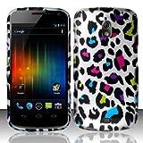 Samsung Galaxy Nexus Prime i515 Accessory - Rainbow Leopard Spot Skin Design Protective Hard Case Cover for Sprint/Verizon/Telus