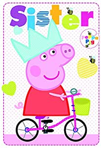 Amazon.com : Peppa Pig Sister Birthday Card : Office Products