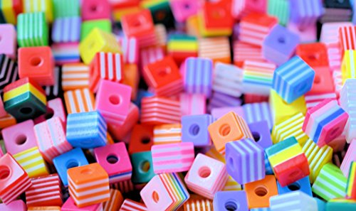 30-assorted-mix-8mm-funky-retro-cubes-resin-lucite-acrylic-beads-jewellery-making-art-craft-mosaic-h