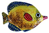 Ceramic Butterfly Fish Wall Hanger (Yellow) - Hand Painted From Spain
