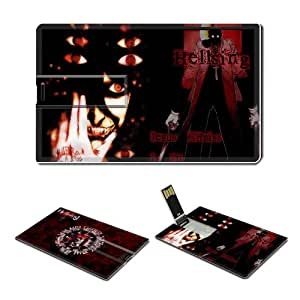 16GB USB Flash Drive USB 2.0 Memory Credit Card Size Anime Hellsing Comic Game Customized Support Services Ready Alucard-006