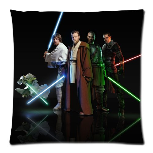 Generic Star Wars Zippered Pillowcase 18-inch By 18-inch (Twin Sides)