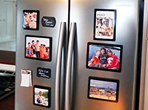 FridgePicTM Magnetic Photo Frame Sets - TOP SELLER - The Best Magnetic Photo Frames Anywhere! - The perfect gift this Holiday Season. Hang on any magnetic surface or use as a tabletop frame. Can also hang easily on a wall with damage free tape. Display an