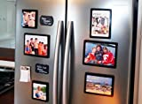 FridgePicTM Magnetic Photo Frame Sets - TOP SELLER - The Best Magnetic Photo Frames Anywhere! - The perfect gift this Holiday Season. Hang on any magnetic surface or use as a tabletop frame. Can also hang easily on a wall with damage free tape. Display and protect your favorite photos with our unique photo-lock design. We are TOP RATED! FREE GIFT WRAP & SHIPPING ON MOST ORDERS. Great way to organize the fridge photos. Nice way to personalize your cubicle too! Set of 7 (black, multi-color or silver). Set of 3 4x6 (black, red or green)