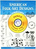 img - for American Folk Art Designs CD-ROM and Book (Dover Electronic Clip Art) by Joseph D'Addetta (2006) Paperback book / textbook / text book