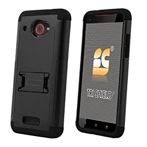 Beyond Cell Tri-Shield Case with Built-In Kickstand for HTC Droid DNA 6435 - Retail Packaging - Black