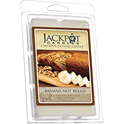 Banana Nut Bread Wax Tart Melts with Ring Inside (Surprise Jewelry Valued at $15 to $5,000) Ring Size 8
