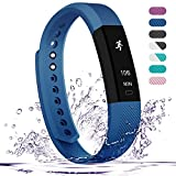 Fitness Tracker,Teslasz Bluetooth 4.0 Sleep Monitor Calorie Counter Pedometer Sport Activity Tracker for Android and IOS Smart Phone,Blue