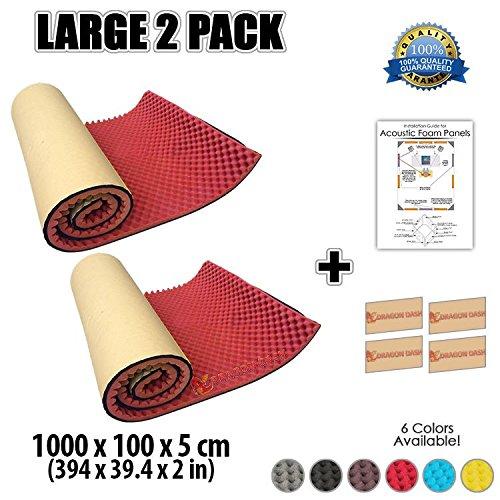 super-dash-2-pezzi-di-10-metro-1000-x-100-x-5-cm-auto-adesiva-eggcrate-rotolo-schiuma-fonoassorbenti