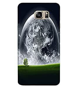 ColourCraft Moon View Design Back Case Cover for SAMSUNG GALAXY NOTE 7