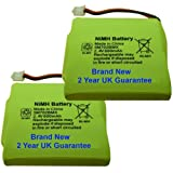 2 x New Replacement Batteries for BT Verve 450 and 410 Cordless Phones 5M702BMX 2.4v 600mAh NiMH Ni-MH UK BuyaBattery Branded (Quality Batteries without white labels)