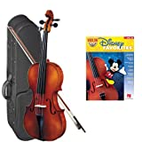 Strunal 1750 Student Violin Disney Favorites Play Along Pack - 3/4 Size European Violin w/Case & Play Along Book