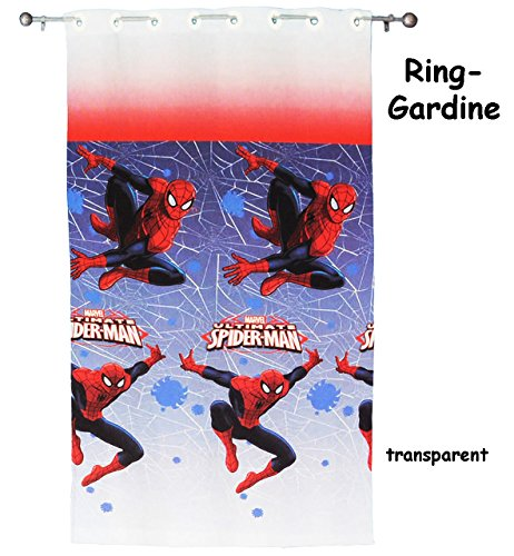 vorhang fertig gardine aus chiffon ultimate spider man 140 240 cm lang. Black Bedroom Furniture Sets. Home Design Ideas