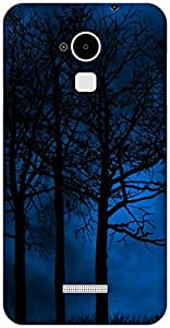 The Racoon Grip printed designer hard back mobile phone case cover for Coolpad Note 3. (forest)