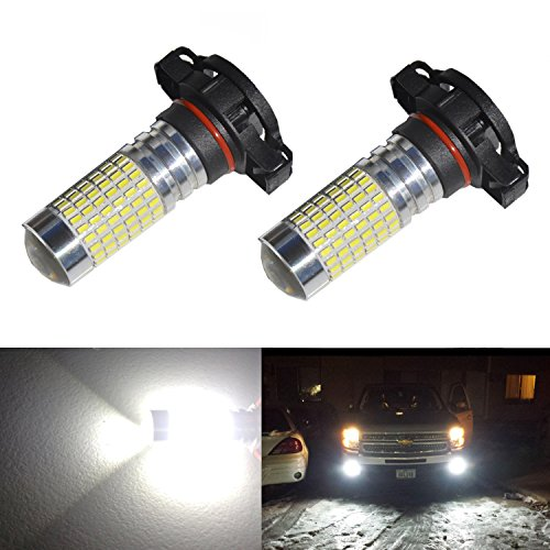 JDM ASTAR 1200 Lumens Extremely Bright 144-EX Chipsets H16 5202 TYPE 1 LED Bulbs with Projector for DRL or Fog Lights, Xenon White (Fog Bulb White compare prices)