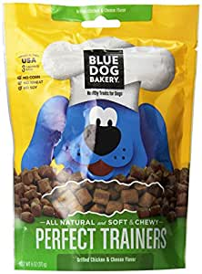 Blue Dog Bakery Perfect Trainers All Natural Dog Treats, Chicken and Cheese, 6-Ounce Bag