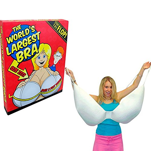 "Worlds Largest Bra Size ZZZZ Cup 36"" Womens Underwear Breasts Boob Joke Gag Gift"
