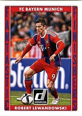 2015 Donruss Fantastic Finishers #12 Robert Lewandowski FC Bayern Munich Soccer Card