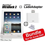 AKTION: UltraDock II - für Apple iPhone / iPad / iPod touch / Android Smartphones & Tablets + Lightning Lade-Adapter