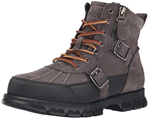 Polo Ralph Lauren Men's Demond Boot, Dark Grey, 9 D US