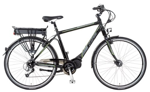 Prophete Herren E-Bike Alu-Trekking E-novation mittelmotor licensed by JD, glanz
