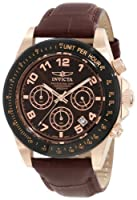 Invicta Men's 10712 Speedway Brown Dial Brown Leather Watch from Invicta
