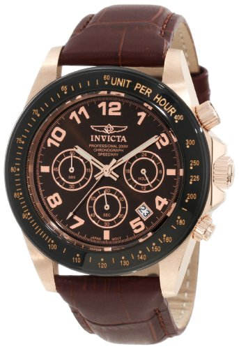 Invicta Men's 10712 Speedway Brown Dial Brown Leather Watch