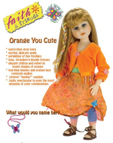 Faith & Friends Orange You Cute - Buy Faith & Friends Orange You Cute - Purchase Faith & Friends Orange You Cute (Mission City Press, Toys & Games,Categories,Dolls,Fashion Dolls)