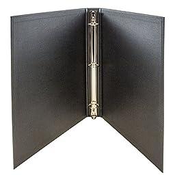 JAM Paper® Designders® - Heavy Duty Cloth Covered Linen Binders - 1 Inch Width - Black Linen - Sold Individually