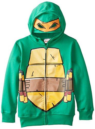 T-Shirtnage Mutant Ninja Turtles Big Boys' Character Hoodie, Green Shell, 8 (Kids Ninja Turtle Sweatshirt compare prices)